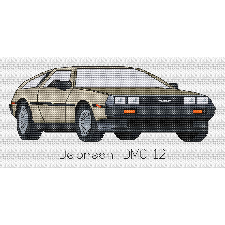 kit or chart Delorean DMC-12 Cross Stitch Design