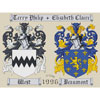 Coat of Arms Wedding Sampler Cross Stitch Chart Only