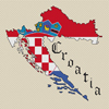 Croatia Map & Flag Cross Stitch Chart Only