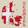 Denmark Map & Flag Cross Stitch Chart Only