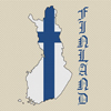 Finland Map & Flag Cross Stitch Chart Only