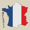 France Map & Flag Cross Stitch Chart Only