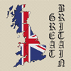 Great Britain Map & Flag Cross Stitch Chart Only