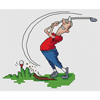 Golfer Bad Drive  Cross Stitch Chart