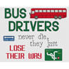 Bus Drivers Lose Their Way  Cross Stitch Chart