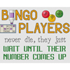 Bingo Players Number Comes Up Cross Stitch Chart
