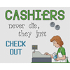 Cashiers Check Out Cross Stitch Chart