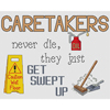 Caretakers Get Swept Up Cross Stitch Chart