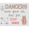 Dancers Step Away Cross Stitch Chart