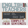English Teachers Complete Cross Stitch Kit
