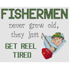 Fishermen Get Reel Tired Cross Stitch Chart