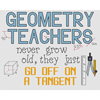 Geometry Teachers Go Off On A Tangent Cross Stitch Chart