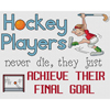 Hockey Players Achieve Their Final Goal Cross Stitch Chart
