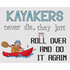 Kayakers Roll Over Cross Stitch Chart