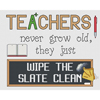 Teachers Wipe The Slate Clean Cross Stitch Chart