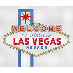 Las Vegas Sign Cross Stitch Chart Only