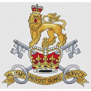 Military Provost Guard Service Cross Stitch Chart Only