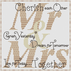Cherish Each Other (Mr & Mrs) Cross Stitch Chart