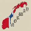 Norway Map & Flag Cross Stitch Chart Only