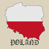 Poland Map & Flag Cross Stitch Chart Only