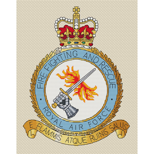 RAF Firefighting & Rescue Badge Cross Stitch Chart Only