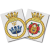 Royal Navy Custom Ship Crest Cross Stitch Kit