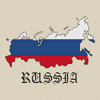 Russia Map & Flag Cross Stitch Chart Only