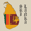 Sri Lanka Map & Flag Cross Stitch Chart Only