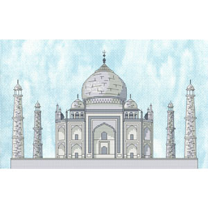 Taj Mahal Cross Stitch Chart Only