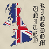 United Kingdom Map & Flag Cross Stitch Chart Only