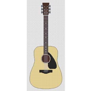 acoustic guitar cross stitch kit elite designs. Black Bedroom Furniture Sets. Home Design Ideas