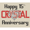 15th (Crystal) Anniversary Cross Stitch Chart