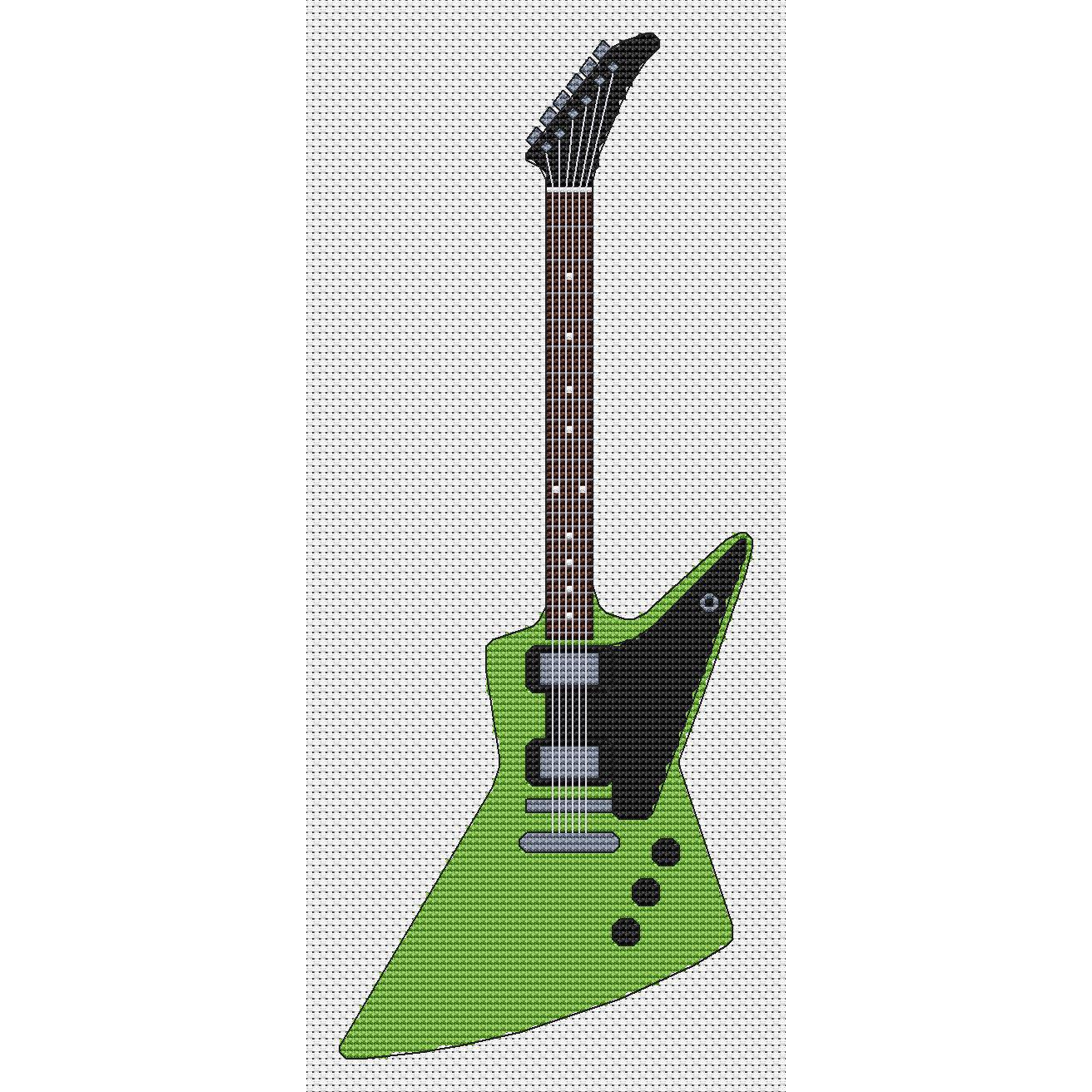 Explorer Guitar Cross Stitch Kit Elite Designs