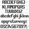 Modern Font Chart (With Fractionals)